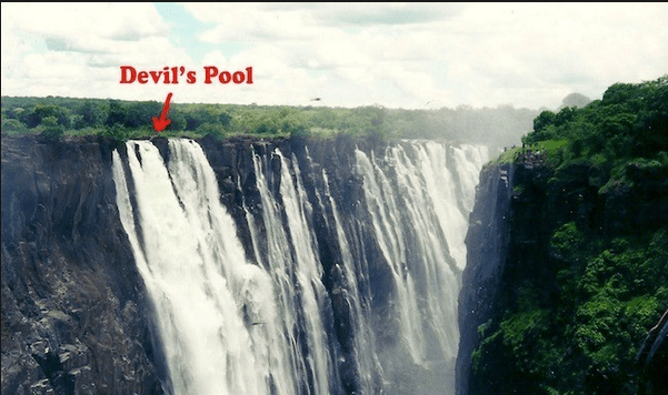 Devil 39 s pool the ultimate infinity pool roamaroo for Devils swimming pool victoria falls