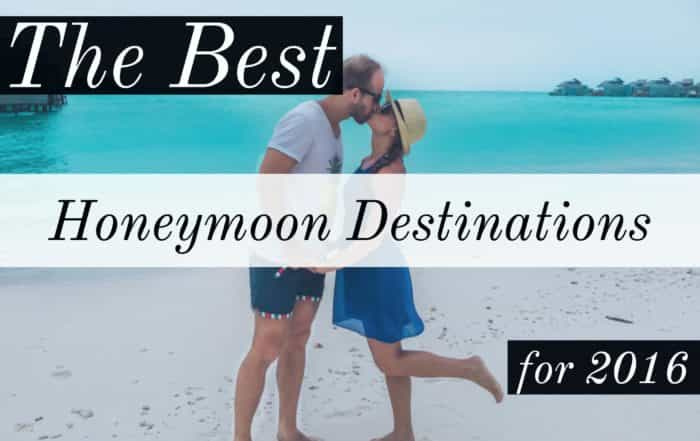 Best honeymoon destinations for 2016
