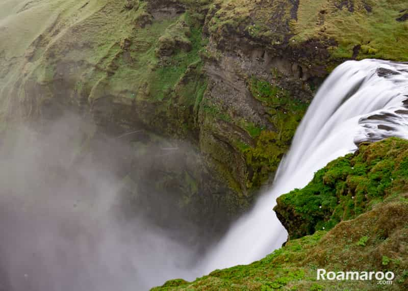 Things to do in iceland - skogafoss waterfall top