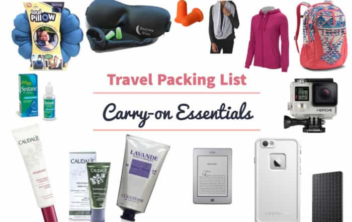 Travel Packing List Carry on essentials