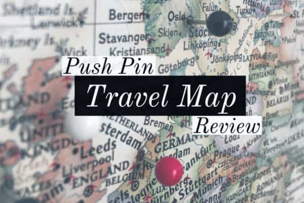 Push Pin Travel Map for bucket list travel