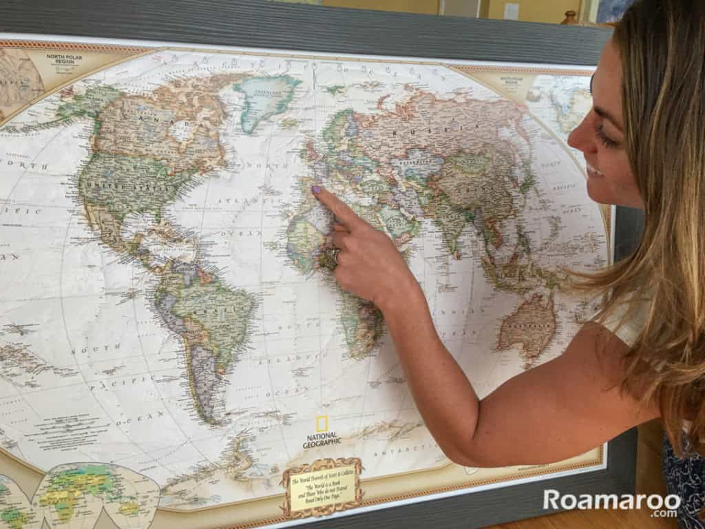 Product Review Push Pin Travel Map - Travel wall map with pins