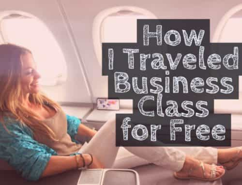 How I Traveled Business Class to Europe for Free